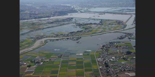 氾濫した鬼怒川の写真をGoogleが公開