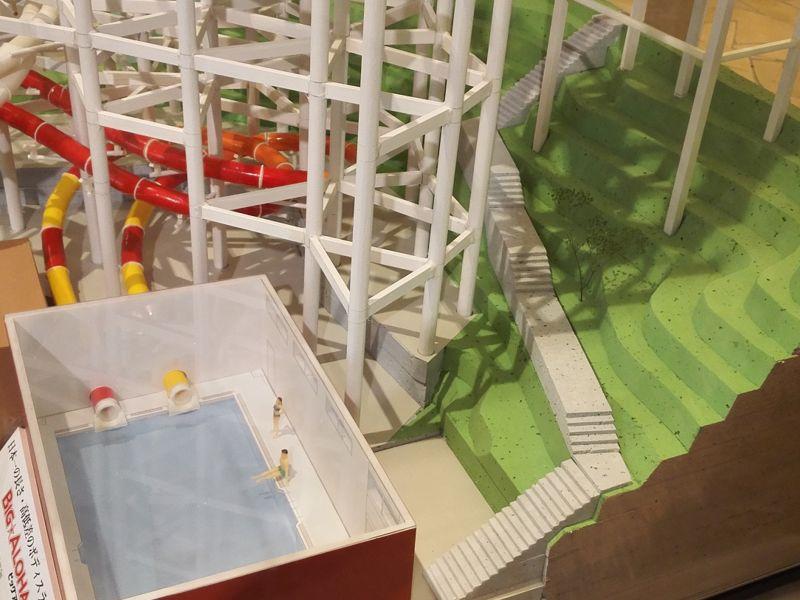 ビッグアロハ模型階段