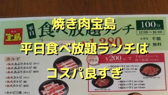 宝島平日食べ放題ランチ